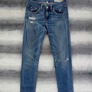 Rag & Bone Distressed Skinny Jeans 26